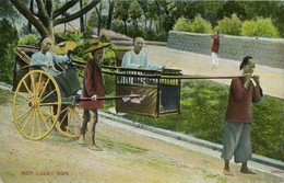 China, Native Men Carry Man, Sedan Chair (1910s) Postcard - China
