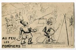 """Rare ! Métier - Pompier / Humour : Au Feu Les Pompiers ! """" Manoeuvres De Pompe à Saint Glain Glain - Pompieri"""