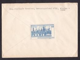 Czechoslovakia: Cover To Germany, 1970, 2 Stamps, Cinderella Label At Back, Horse, Heritage, Exhibition (traces Of Use) - Tsjechoslowakije