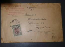 L) 1930 IRAN, REZA PAHLAVI, 24CH, GREEN& PURPLE, CIRUCLATED COVER FROM IRAN TO SPAIN-BARCELONA - Iran