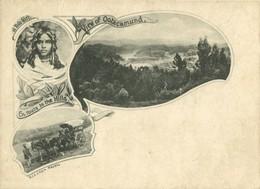 India, OOTACAMUND OOTY, Panorama, Toda Girl, En Route To Hills (1899) Postcard - India