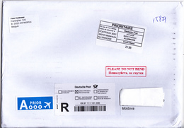 2018 , Germany  To Moldova , Used Cover - Covers & Documents
