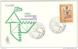 ITALIA - 1964 ROMA  Giornata Del Francobollo Su FDC Venetia Con Ann. Speciale - Corriere Postale A Cavallo - Journée Du Timbre