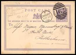 4619 Half Penny Cardiff 1870 Rotterdam Carte Postale Grande Bretagne Great Britain Entier Postal Stationery - Luftpost & Aerogramme