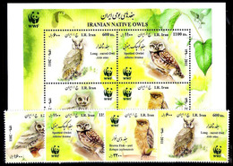 2861  Hiboux - Owls - Iran 2928 à 31 + Bloc - MNH - 3,75 - Hiboux & Chouettes