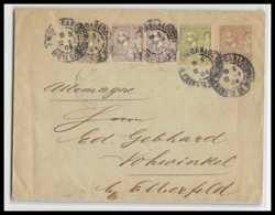 4761 Albert 1er 1c Complement Affranchissement 1895 Composé Vohwinkel (germany) Enveloppe Monaco Entier Stationery - Entiers Postaux
