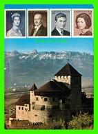 LIECHTENSTEIN - CASTLE OF VADUZ WITH STAMPS ROYAL FAMILY - HUBERT GASSNER - - Liechtenstein