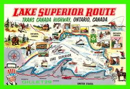 MAPS, CARTES GÉOGRAPHIQUES - LAKE SUPERIOR ROUTE, ONTARIO CANADA - NORTHLAND SPECIALTY CO - - Cartes Géographiques