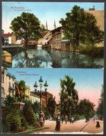 2 Alte Postkarten,Polska,Pommern,BROMBERG,BYDGOSZCZ,Königl.Mühlen,Kaiser Wilhelm Denkmal, Feldpost 1915 - Pommern
