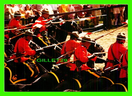 POLICE- GENDARMERIE - ROYAL CANADIAN MOUNTED POLICE MUSICAL CHARGE BY THE MASSED SCARLET COATED MOUNTIES - - Police - Gendarmerie