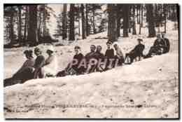 CPA Sports D&#39Hiver A Peira Cava Environs De Nice Luge Skis Sports D&#39hiver - France
