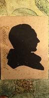 Man's Head - Russia - OLD Card  - Silhouette - Scissor Type 1930s - Silhouettes