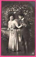 Fröhliche Pfingsten - Couple - Fleur - Forêt - 1914 - Pentecôte