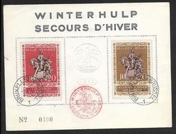 613/14 Sur Feuillet FDC Oblitération Bruxelles Le 3-4-43 (MD) - ....-1951