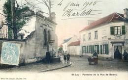 95 - Saint Leu - Fontaine De La Rue De Boissy - Carte Légèrement Colorisée - Saint Leu La Foret