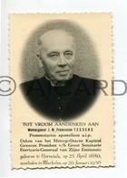 Doodsprentje Monseigneur J.M. Franciscus Tessens °1880 Herentals †1956 Mechelen  (B35) - Obituary Notices