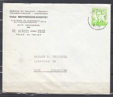Brief Van Adinkerke Naar Diksmuide - 1953-1972 Lunettes