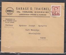 Brief Van Diksmuide Naar Ieper Shell - 1953-1972 Lunettes