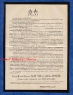Document Ancien - AUTUN - Louise Marie Thérèse SABATIER De LACHADENEDE Comtesse Joseph De GEVAUDAN - Historical Documents