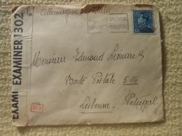 Enveloppe Liege Pour Lisbonne Portugal  Censure Ww2 - Oorlog 40-45