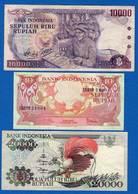 Indonésie  6  Billets - Indonésie