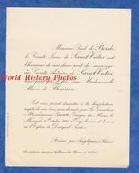 Document De 1924 - RONNO Par AMPLEPUIS (Rhône) - Mariage Du Comte Antoine De SAINT VICTOR Et Marie De FLEURIEU - Mariage