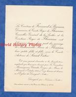 Document De 1924 - DANGEUL Par NOUANS (Sarthe) - Mariage Du Comte Antoine De SAINT VICTOR Et Marie De FLEURIEU - Mariage