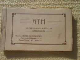 Carnet Incomplet De 8 Cpa Ath Locomotive Rue Place Monument - Ath