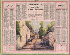 ALMANACH DES POSTES 1940 - FORMAT LIVRET CARTONNE SIMPLE - QUELQUES INFOS - DEPARTEMENT LOIRE INFERIEURE - Calendars