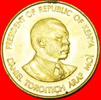 # COCK AND LIONS (1978-1991): KENYA ★ 10 CENTS 1991 UNC MINT LUSTER! LOW START ★ NO RESERVE! - Kenya