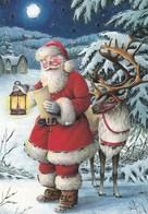 Santa Claus Reading A Letter - Reindeer Is Waiting - Santa Claus