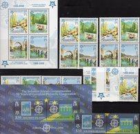 Perf.2006 Solomon 1228/9,Block 88,Bosnia 339/2,ZD,VB+Bl.13 ** 64€ Stamp On Stamps NL987 Norge905 Se-tenants Bf CEPT - Solomon Islands (1978-...)