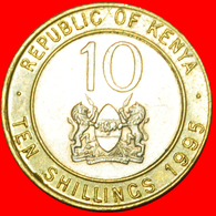 # COCK AND LIONS (1994-1997): KENYA ★ 10 SHILLINGS 1995! LOW START ★ NO RESERVE! - Kenya