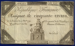 France 50 Livres - ...-1889 Francos Ancianos Circulantes Durante XIXesimo
