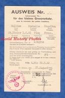 Document Ancien - AUSWEIS - SAINT DIZIER / VICQ ( Haute Marne ) - 1942 Cachet Kreiskommandantur - WW2 Occupation - 1939-45