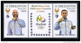 Uzbekistan 2017 Mih. 1187/88 Gold Medalists At The Olympic Games In Rio MNH ** - Ouzbékistan