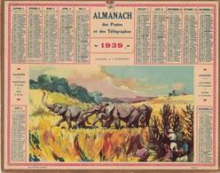 ALMANACH DES POSTES 1939 - FORMAT LIVRET CARTONNE SIMPLE- COMPLET AVEC CARTE - DEPARTEMENT DES DEUX-SEVRES - Calendars