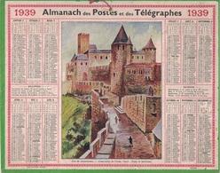 ALMANACH DES POSTES 1939 - FORMAT LIVRET CARTONNE SIMPLE- COMPLET - DEPARTEMENT DE LA SEINE-INFERIEURE. - Calendars