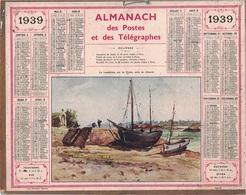 ALMANACH DES POSTES 1939 - FORMAT LIVRET CARTONNE SIMPLE- COMPLET AVEC CARTE - DEPARTEMENT DU GARD - Calendars