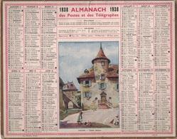 ALMANACH DES POSTES 1938 - FORMAT LIVRET CARTONNE SIMPLE- COMPLET - DEPARTEMENT DES BOUCHES DU RHONE. - Calendars