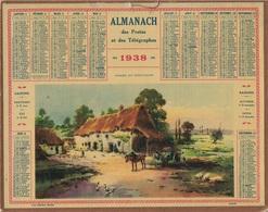 ALMANACH DES POSTES 1938 - FORMAT LIVRET CARTONNE SIMPLE- COMPLET AVEC CARTE - DEPARTEMENT L'ISERE - Calendars