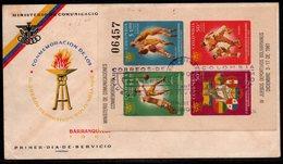 COLOMBIA- KOLUMBIEN - 1961  FDC/SPD.  S/S - IV BOLIVARIAN GAMES - Kolumbien