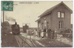 CPA 02 Aisonville - La Gare, Le Train, Les Spectateurs - Vaiment Superbe Car Cliché Très Net - 1911 - Other Municipalities