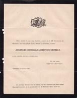 ARNHEM ARNEM Johannes GEUBELS 1888 - Overlijden