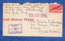 Enveloppe Ancienne - Envoi Du Sgt E. REMINISKEY , HQ Troop 24th Cavalry - APO 230 - US Army WW2 1943 Air Mail Censor - Militaria