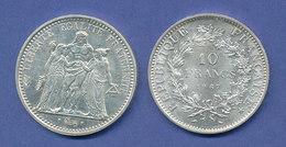 Frankreich, Silbermünze  10 Francs LIBERTÉ, ÉGALITÉ, FRATERNITÉ, 25g Ag900 - Unclassified