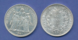 Frankreich, Silbermünze  10 Francs LIBERTÉ, ÉGALITÉ, FRATERNITÉ, 25g Ag900 - France