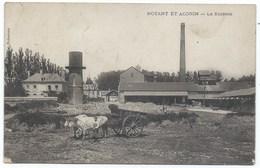 CPA 02 - Noyant Et Aconin - La Sucrerie -  Cliché Net Avec Les Boeufs Et La Charette - Années 1900s Ou 1910s - Other Municipalities