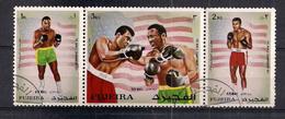 ARABIA DEL SUD EST FUJEIRA 1971 POSTA AEREA PUGILI FRAZIER E CASSIUS CLAY YVERT P.A.60 USATA VF - Arabia Saudita