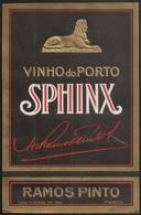 Portugal Port Wine Label - Adriano Ramos Pinto - Vinho Do Porto - Sphinx - Etiquette De Vin Porto - Collections, Lots & Séries